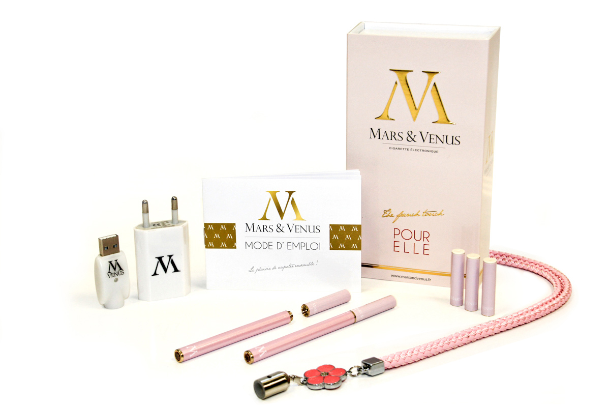 Mars-Venus fashion slim ecigarette pack confort femme